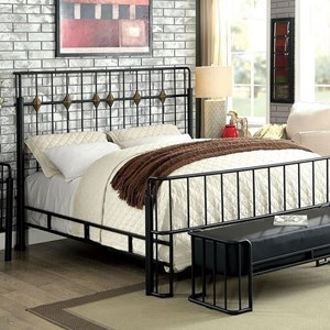 Industrial Metal Twin Bed