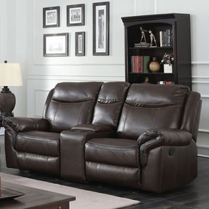 Reclining Loveseat with USB Storage Console