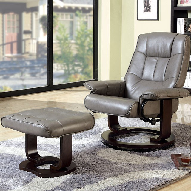 Cheste Lounger w/ Ottoman by Furniture of America at Nassau Furniture and Mattress