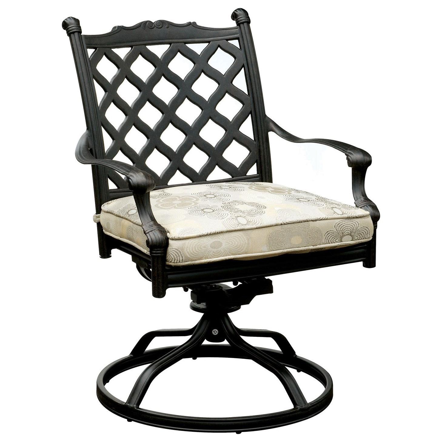 Chiara I Set of 2 Swivel Rocker Chair, Cushion by Furniture of America at Nassau Furniture and Mattress