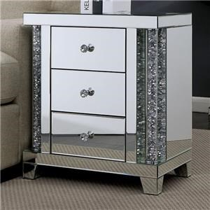 Crystal Accent End Table