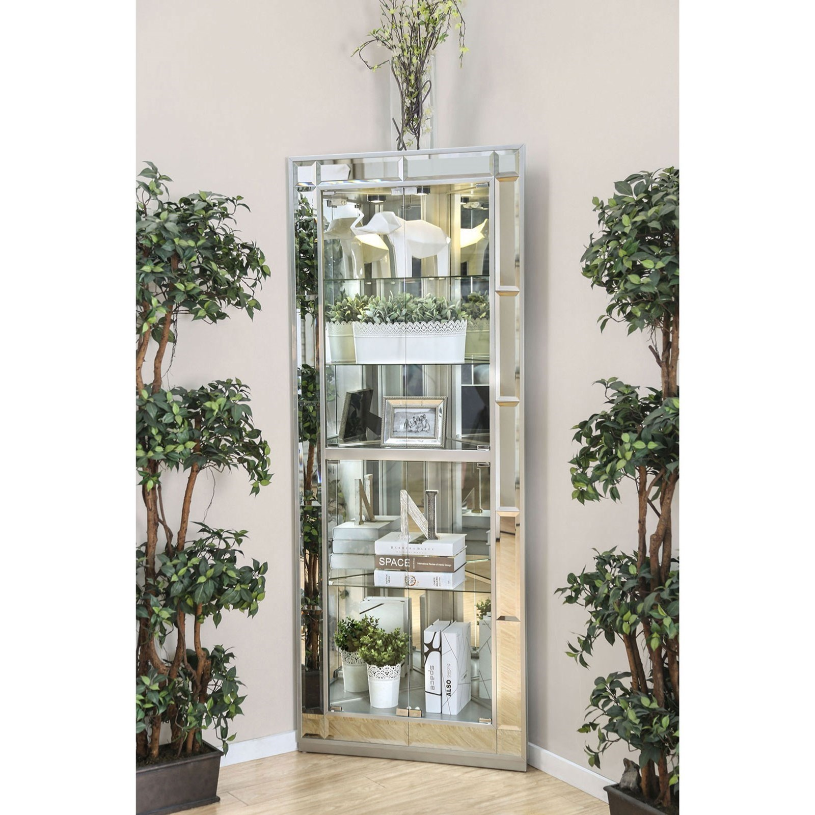 Chouteau Curio Cabinet at Household Furniture