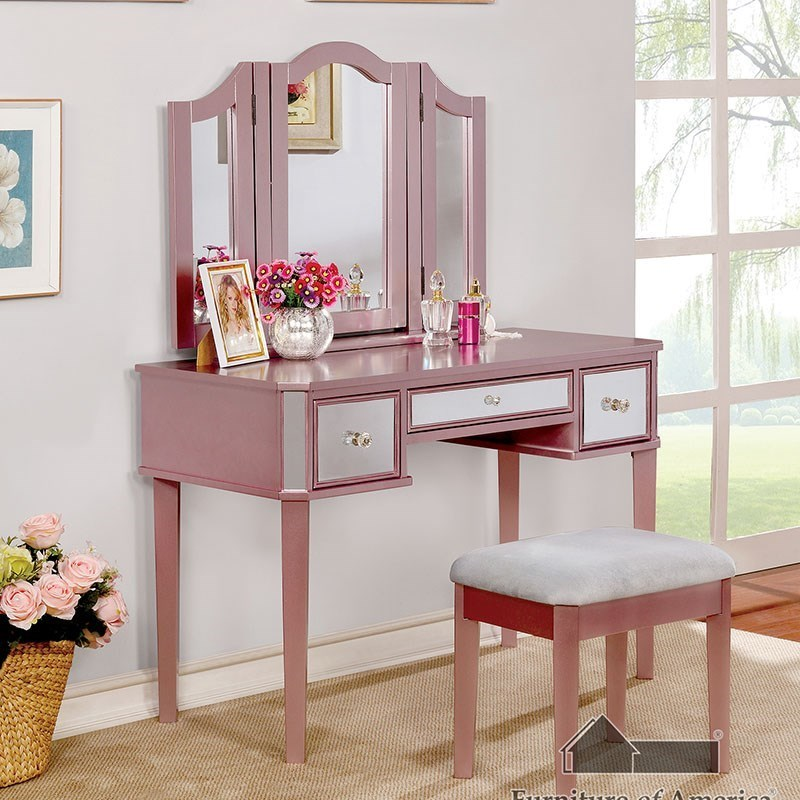 Clarisse Vanity with Stool at Household Furniture