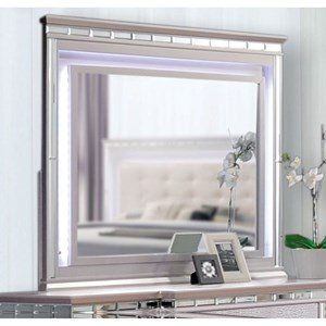 Glam Dresser Mirror with LED Lighting