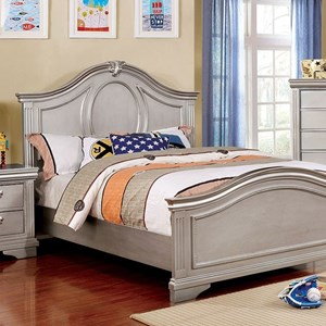 Transitional Full Bed with Decorative Nailhead Trim