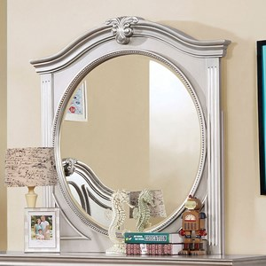 Transitional Mirror with Decorative Nailhead Trim