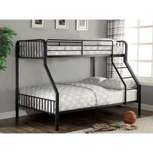Youth Bedroom Metal Twin/Full Bunk Bed