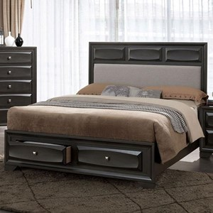 Transitional California King Bed