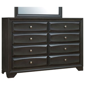 Transitional 8 Drawer Dresser