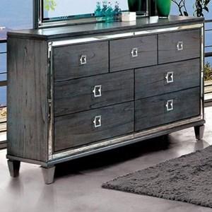 Transitional 7 Drawer Dresser