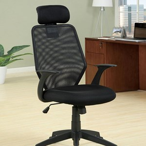 Contemporary Office Task Chair with Adjustable Height and Casters