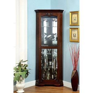 Traditional Curio Cabinet with Framed Glass Door