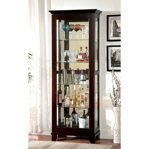 Contemporary Curio Cabinet with Sliding Glass Door