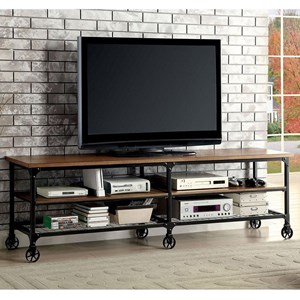 Industrial TV Console with Caster Wheels