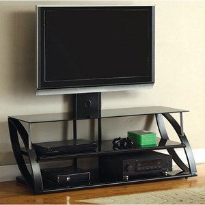 Contemporary TV Console with Wall Mount Bracket