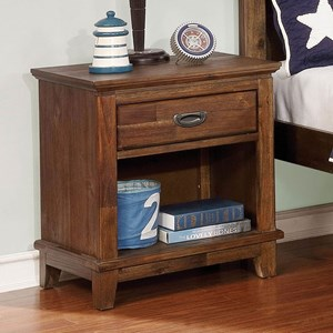 Transitional Nightstand with 1 Drawer