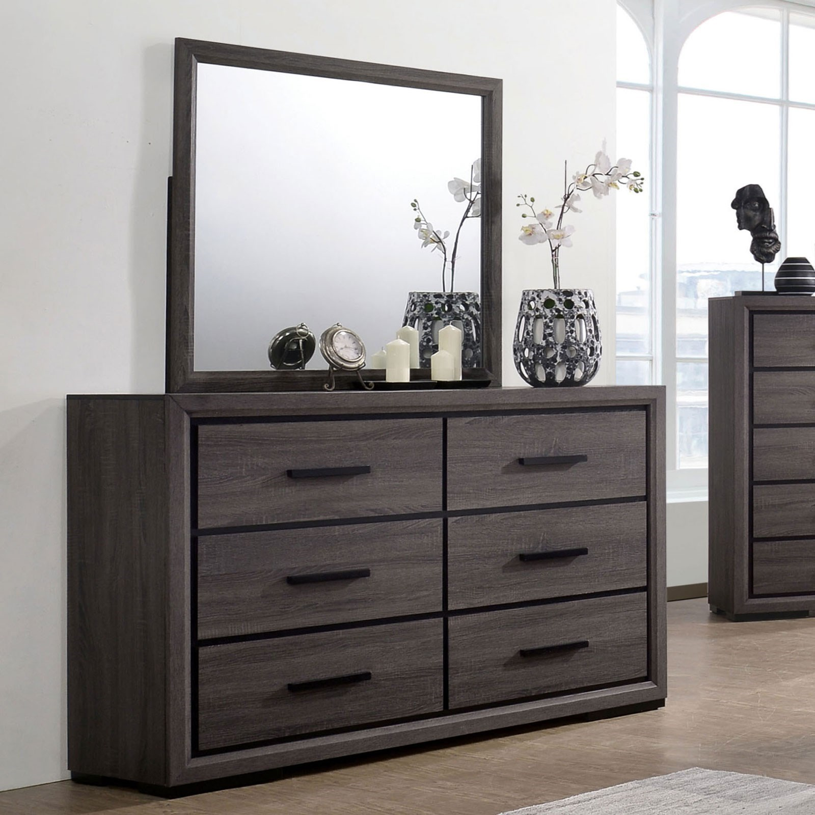 Conwy Dresser and Mirror Combination at Household Furniture