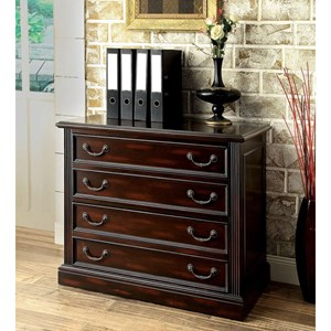 Transitional Lateral File Cabinet with Cherry Finish