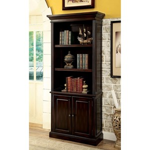 Transitional Bookshelf with Cherry Finish