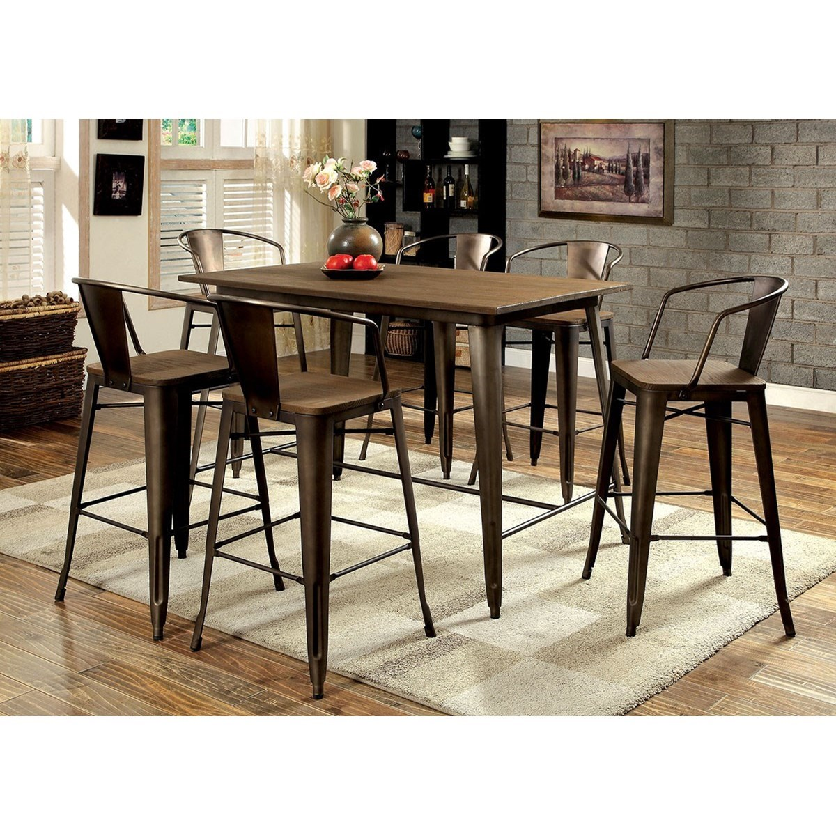 Cooper Counter Table and Stool Set at Household Furniture