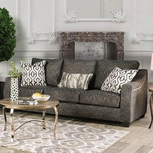 Transitional Sofa with Sloped Arms