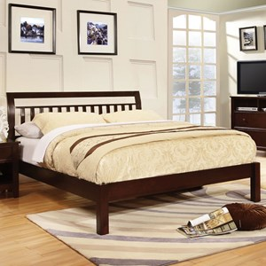 Transitional Queen Sleigh Bed
