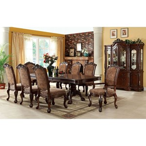 9 Piece Traditional Dining Set