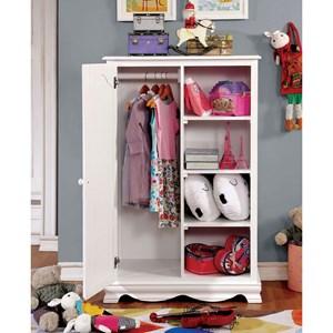 Closet Storage with Hanging Rod