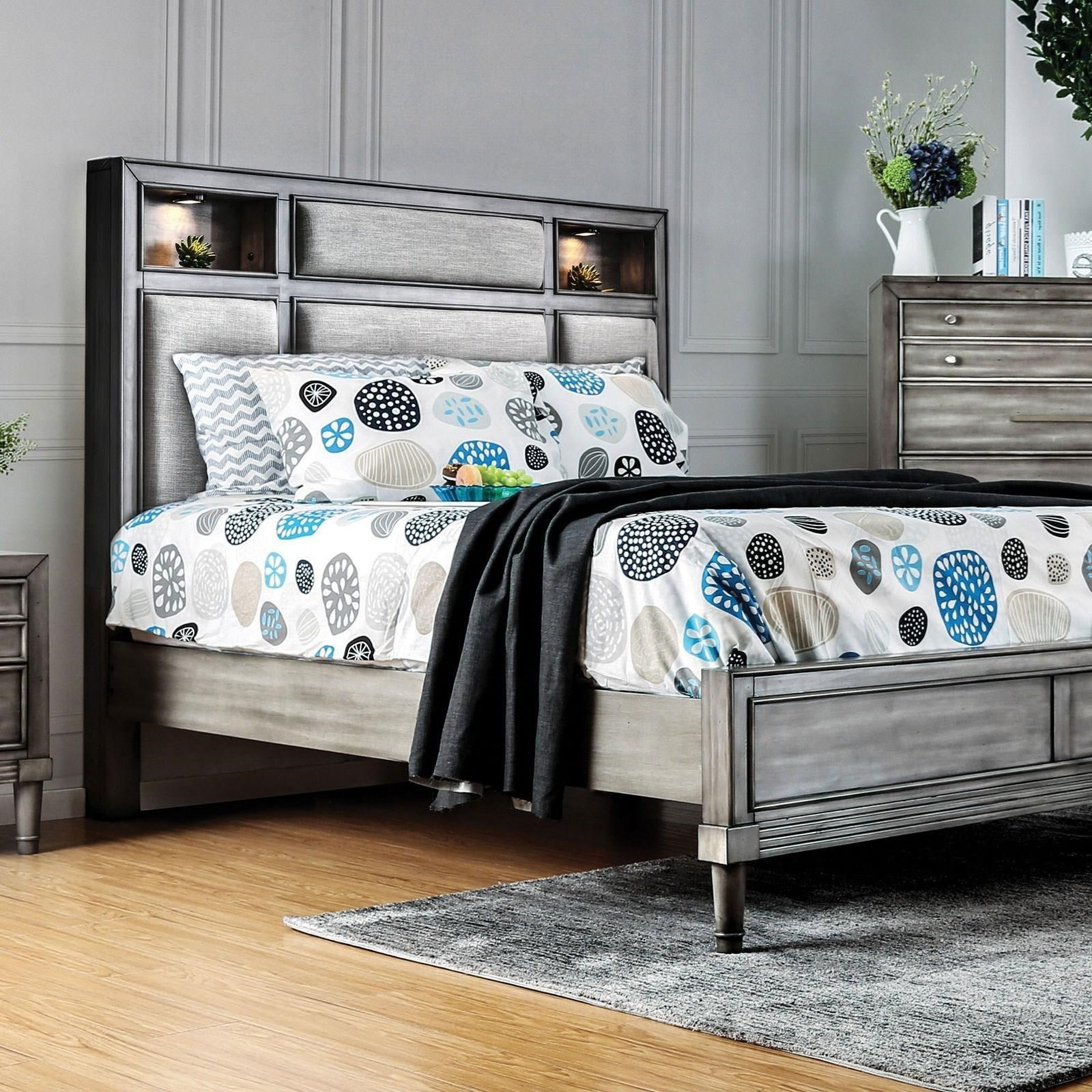 Daphne King Bed by Furniture of America at Corner Furniture