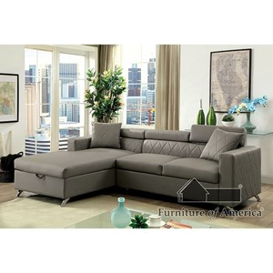 Contemporary Sofa Sectional with Storage Chaise