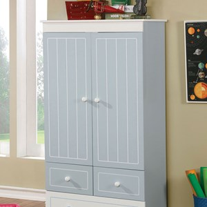 Transitional Armoire with Adjustable Shelves