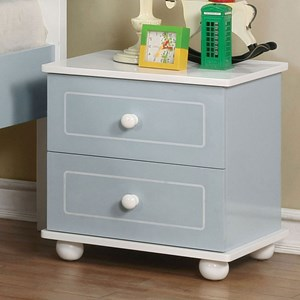 Transitional Two-Toned Nightstand with Felt-Lined Top Drawer