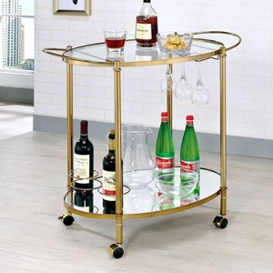 Contemporary Champagne Serving Cart