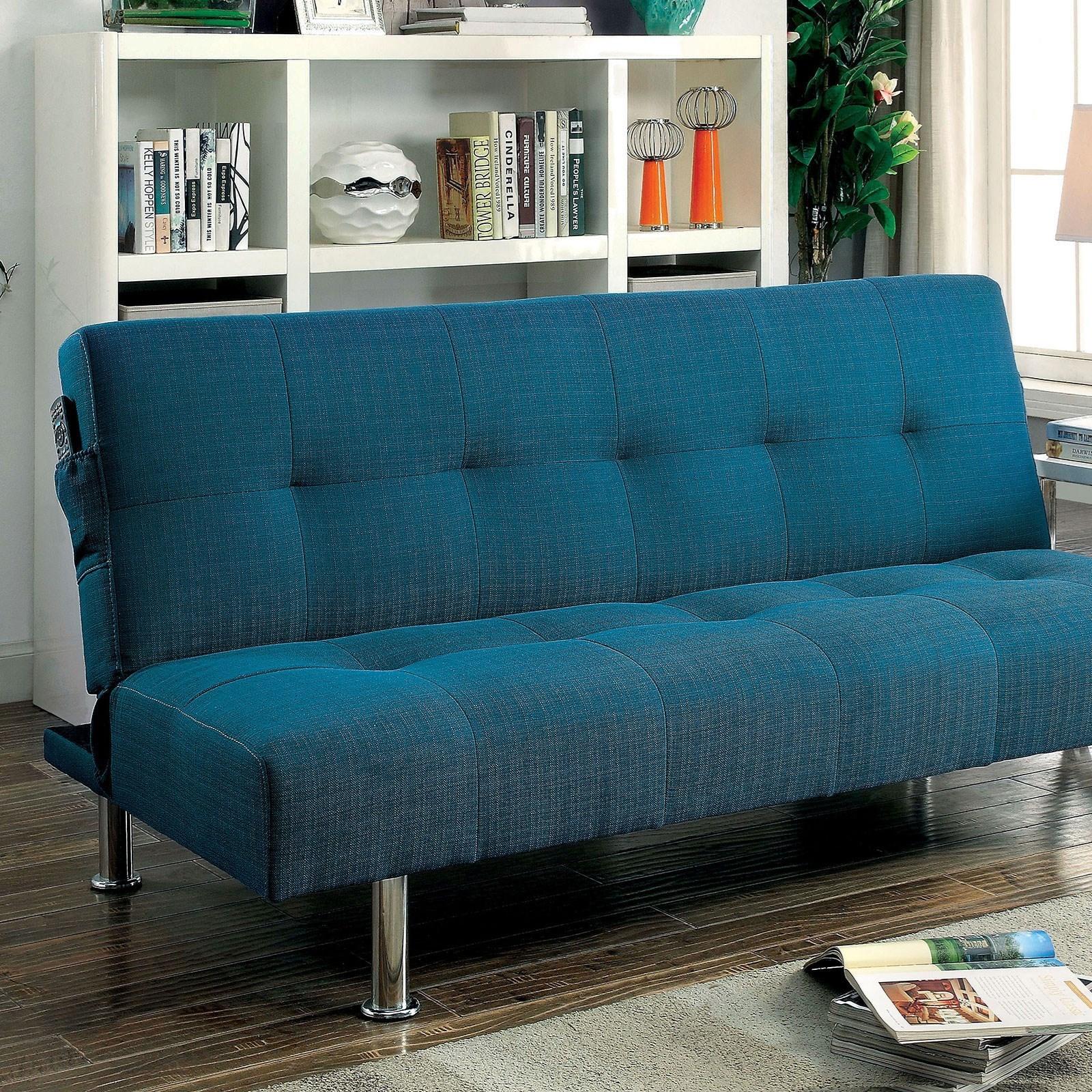 Dewey Futon Sofa by Furniture of America at Dream Home Interiors