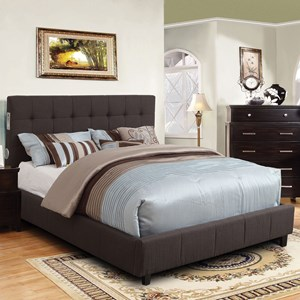 Contemporary Queen Panel Bed with Bluetooth Speakers