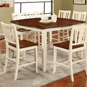 """Transitional Counter Height Table w/ 16"""" Leaf"""