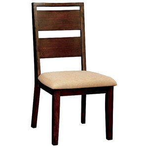 Ladder Back Side Chair with Upholstered Seat