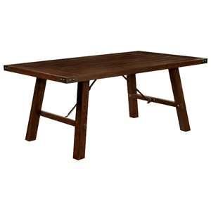 Dining Table with Metal Accenting