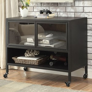 """36"""" Castered TV Stand with Acryllic Door Fronts"""