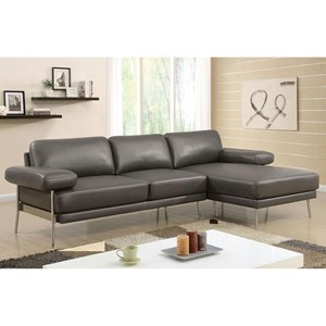 Contemporary Sectional with RAF Chaise