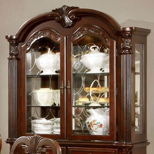 Traditional Dining Hutch with 3 Shelves