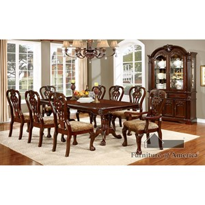 Table + 2 Arm Chairs + 4 Side Chairs