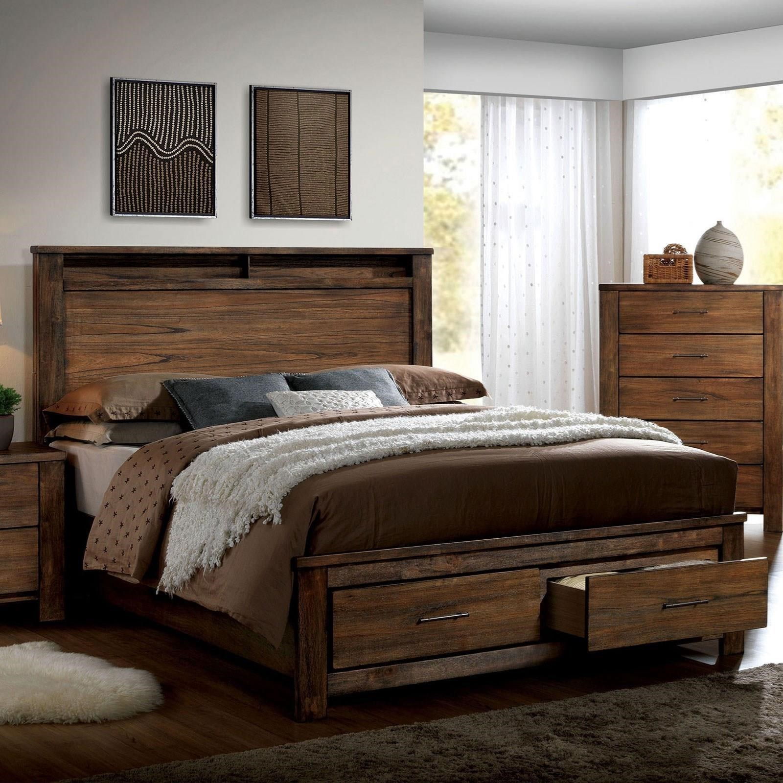 Elkton California King Bed by Furniture of America at Nassau Furniture and Mattress