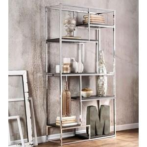 Contemporary Metal and Wood Bookshelf
