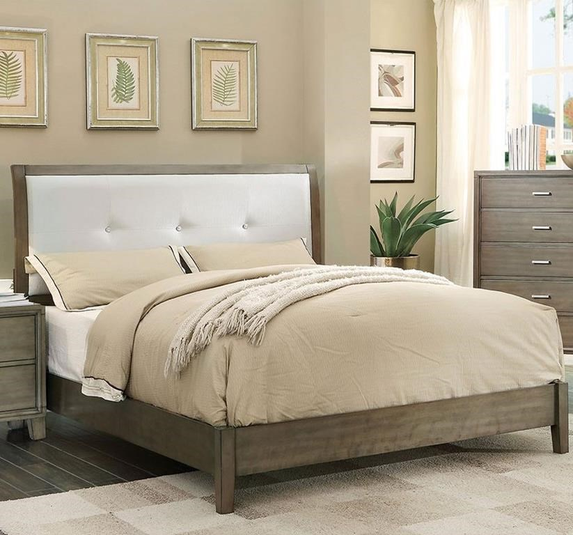 Enrico I Queen Upholstered Bed at Household Furniture