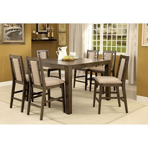 Transitional Counter Height Dining Table with Expandable Leaf