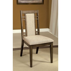 Transitional Dining Side Chair 2-Pack with Upholstered Seat and Back