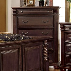 Traditional Chest with Felt-Lined Drawer