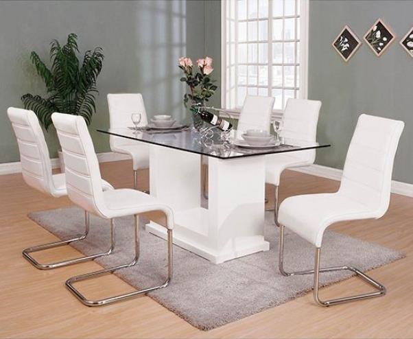 Eva 7-Piece Dining Set at Household Furniture