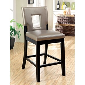 Set of 2 Contemporary Counter Height Chairs
